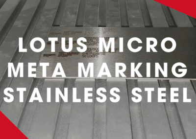 Lotus Micro Meta Laser Marking Stainless Steel