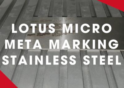 Lotus Micro Meta Laser Marking Stainless Steel