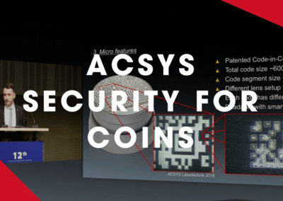 ACSYS – Security features for coins and medals with laser technology