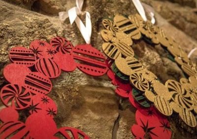 LASER CUT CHRISTMAS WREATH