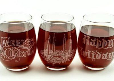 HOLIDAY WINE GLASSES