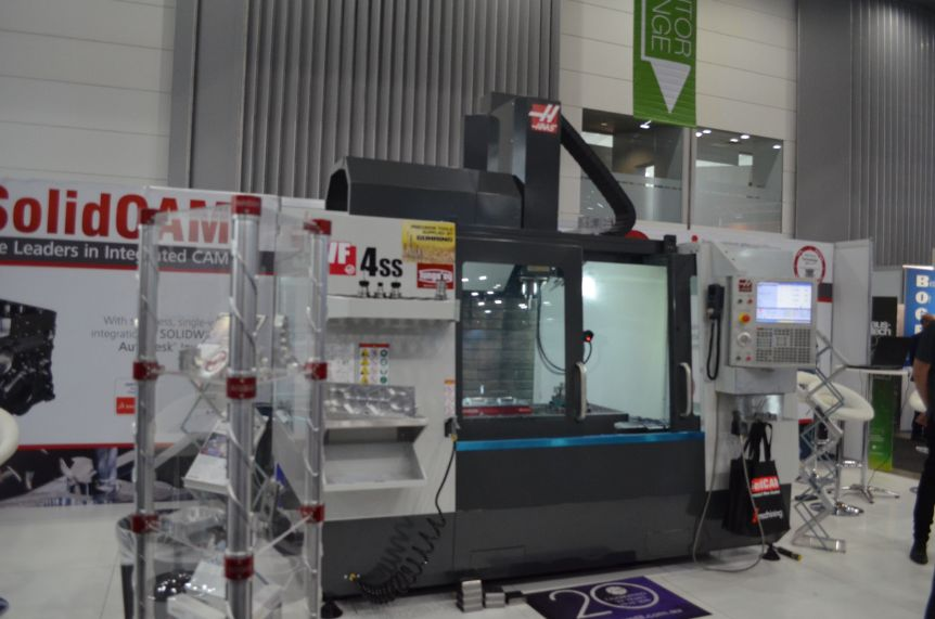 austech haas on solidcam stand