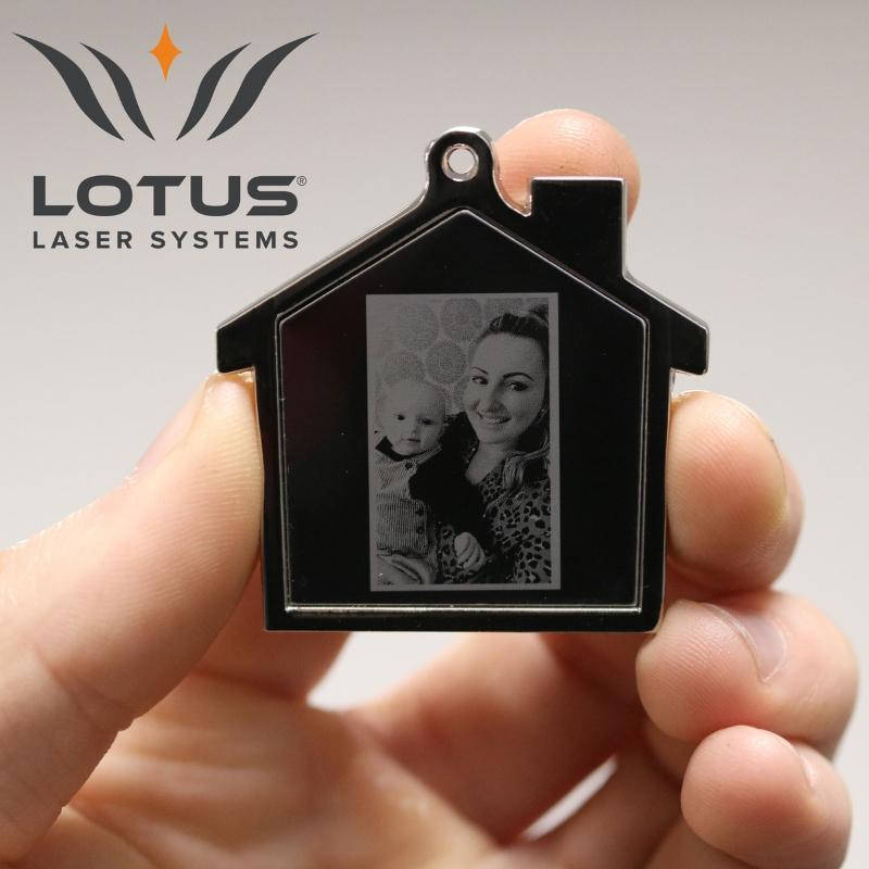 Lotus Micro Meta Alfex Laser Sample Photo Engraving