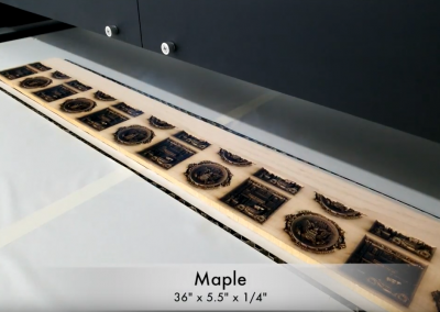 3D Laser Engraved Wood Samples